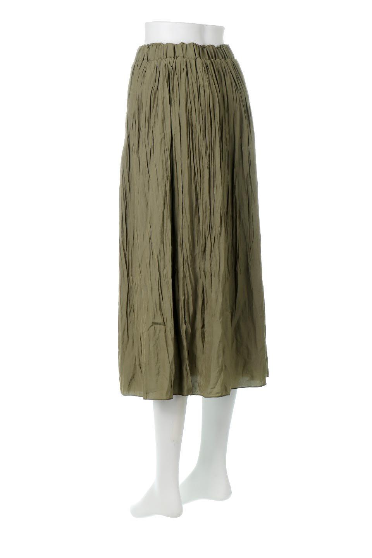 CrushPleatedLongSkirtクラッシュプリーツ・ロングスカート大人カジュアルに最適な海外ファッションのothers(その他インポートアイテム)のボトムやスカート。ヴィンテージライクなマットサテンの生地がポイントのナチュラルなプリーツスカート。生地の落ち感を利用し、生地をたっぷり使ったスカートのシルエットとボリュームを綺麗に見せるデザイン。/main-3