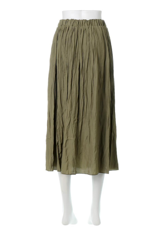 CrushPleatedLongSkirtクラッシュプリーツ・ロングスカート大人カジュアルに最適な海外ファッションのothers(その他インポートアイテム)のボトムやスカート。ヴィンテージライクなマットサテンの生地がポイントのナチュラルなプリーツスカート。生地の落ち感を利用し、生地をたっぷり使ったスカートのシルエットとボリュームを綺麗に見せるデザイン。/main-4