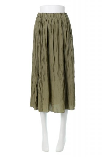 Crush Pleated Long Skirt クラッシュプリーツ・ロングスカート / 大人カジュアルに最適な海外ファッションが得意な福島市のセレクトショップbloom
