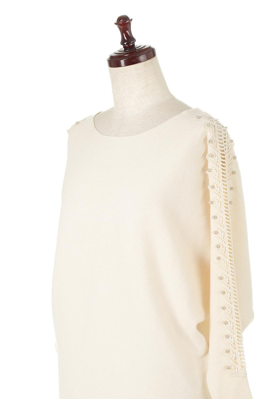 SheerShoulderDolmanKnitTopシアーショルダー・ドルマンニット大人カジュアルに最適な海外ファッションのothers(その他インポートアイテム)のトップスやニット・セーター。露出しすぎないハシゴレースが上品さを演出するドルマンニット。なめらかな質感の薄手のニットはシーズンを問わずずっと使える素材感。/main-16