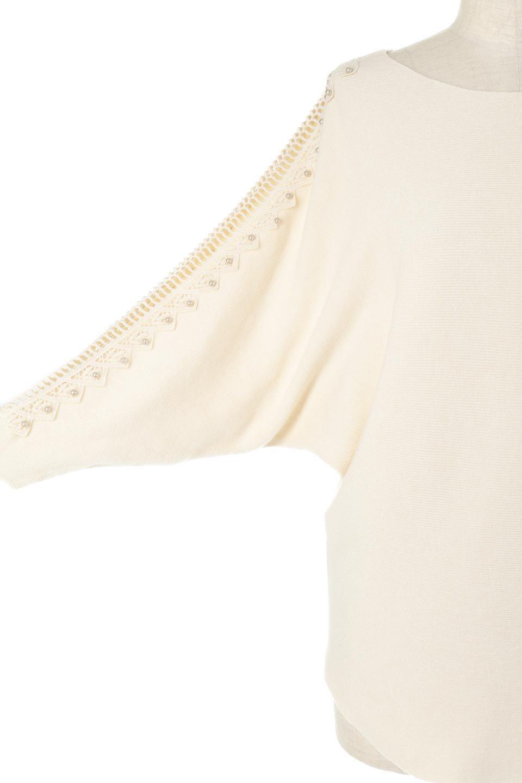 SheerShoulderDolmanKnitTopシアーショルダー・ドルマンニット大人カジュアルに最適な海外ファッションのothers(その他インポートアイテム)のトップスやニット・セーター。露出しすぎないハシゴレースが上品さを演出するドルマンニット。なめらかな質感の薄手のニットはシーズンを問わずずっと使える素材感。/main-22