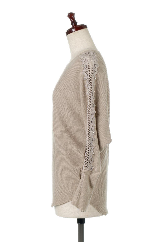SheerShoulderDolmanKnitTopシアーショルダー・ドルマンニット大人カジュアルに最適な海外ファッションのothers(その他インポートアイテム)のトップスやニット・セーター。露出しすぎないハシゴレースが上品さを演出するドルマンニット。なめらかな質感の薄手のニットはシーズンを問わずずっと使える素材感。/main-7