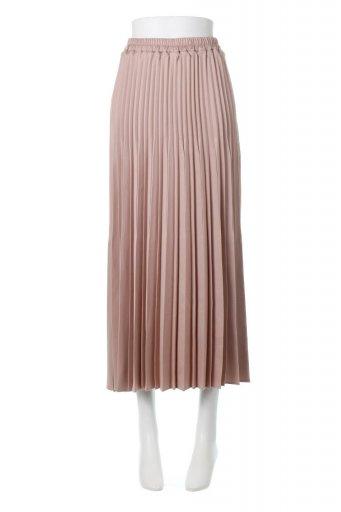 海外ファッションや大人カジュアルに最適なインポートセレクトアイテムのMat Satin Random Pleated Skirt ランダムプリーツ・ロングスカート