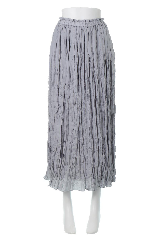 CrushPleatedMaxiLongSkirtクラッシュプリーツ・マキシスカート大人カジュアルに最適な海外ファッションのothers(その他インポートアイテム)のボトムやスカート。クシャクシャのシワが特徴のクラッシュプリーツ加工を施したマキシスカート。もちろんシワになっても気にならず、気楽に楽しめ宇スカートです。