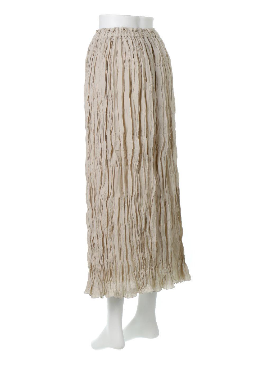 CrushPleatedMaxiLongSkirtクラッシュプリーツ・マキシスカート大人カジュアルに最適な海外ファッションのothers(その他インポートアイテム)のボトムやスカート。クシャクシャのシワが特徴のクラッシュプリーツ加工を施したマキシスカート。もちろんシワになっても気にならず、気楽に楽しめ宇スカートです。/main-8