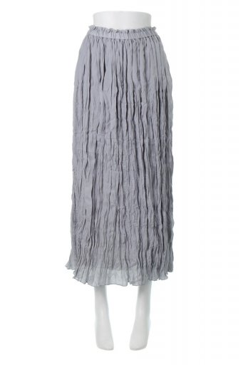 海外ファッションや大人カジュアルに最適なインポートセレクトアイテムのCrush Pleated Maxi Long Skirt クラッシュプリーツ・マキシスカート