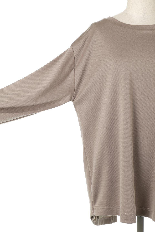 PleatedBackPanelTopプリーツ切り替え・オープンバックトップス大人カジュアルに最適な海外ファッションのothers(その他インポートアイテム)のトップスやカットソー。バックの切り替えが可愛いポンチ素材のカットソー。背中から覗くプリーツがポイントのトップス。/main-14