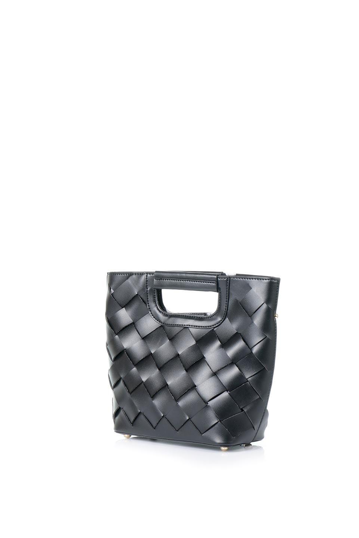 meliebiancoのEllen(Black)2Way・編み込みハンドバッグ/海外ファッション好きにオススメのインポートバッグとかばん、MelieBianco(メリービアンコ)のバッグやハンドバッグ。可愛い大きさの編み込みハンドバッグ。しっとりとしたプレミアム・ビーガンレザーをメッシュ状に編み込んだ2Wayタイプ。/main-1