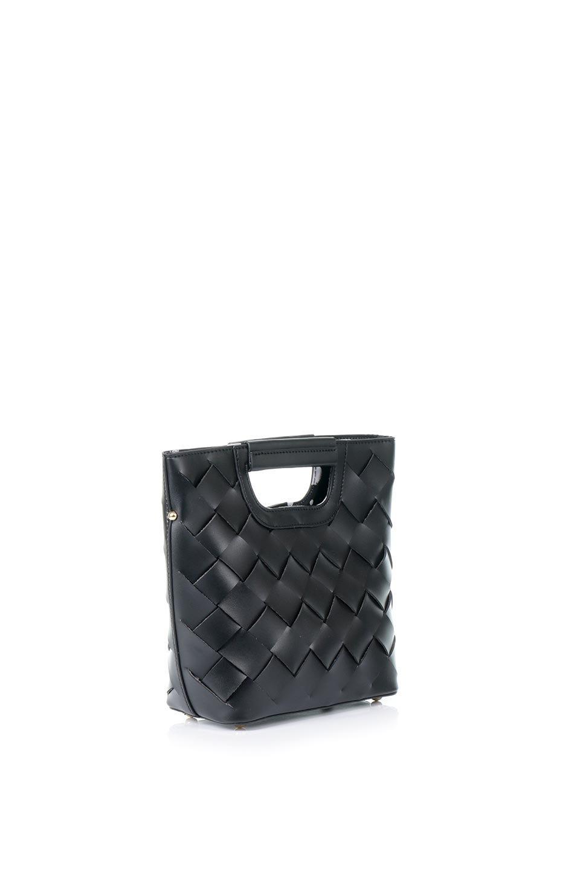 meliebiancoのEllen(Black)2Way・編み込みハンドバッグ/海外ファッション好きにオススメのインポートバッグとかばん、MelieBianco(メリービアンコ)のバッグやハンドバッグ。可愛い大きさの編み込みハンドバッグ。しっとりとしたプレミアム・ビーガンレザーをメッシュ状に編み込んだ2Wayタイプ。/main-3