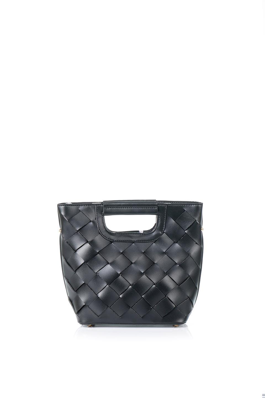 meliebiancoのEllen(Black)2Way・編み込みハンドバッグ/海外ファッション好きにオススメのインポートバッグとかばん、MelieBianco(メリービアンコ)のバッグやハンドバッグ。可愛い大きさの編み込みハンドバッグ。しっとりとしたプレミアム・ビーガンレザーをメッシュ状に編み込んだ2Wayタイプ。/main-4