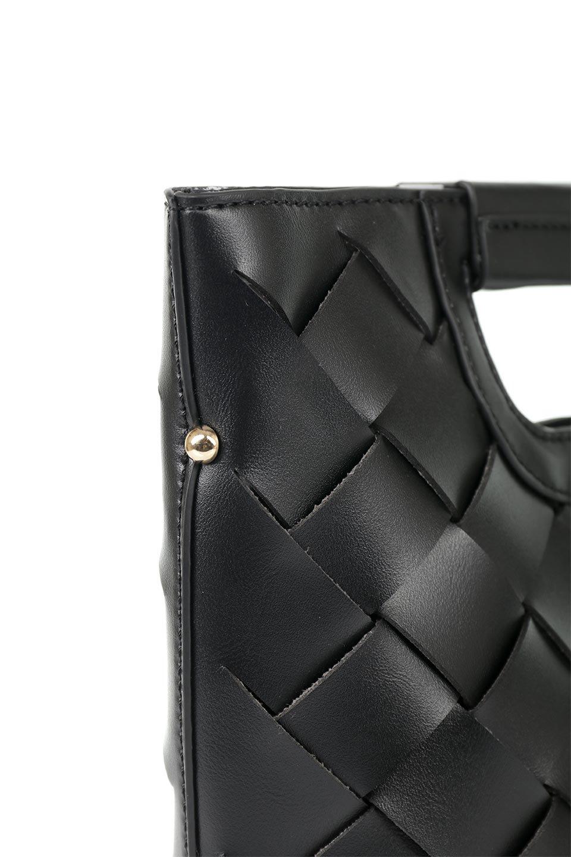 meliebiancoのEllen(Black)2Way・編み込みハンドバッグ/海外ファッション好きにオススメのインポートバッグとかばん、MelieBianco(メリービアンコ)のバッグやハンドバッグ。可愛い大きさの編み込みハンドバッグ。しっとりとしたプレミアム・ビーガンレザーをメッシュ状に編み込んだ2Wayタイプ。/main-5