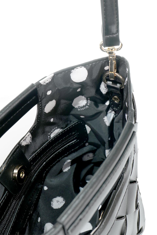 meliebiancoのEllen(Black)2Way・編み込みハンドバッグ/海外ファッション好きにオススメのインポートバッグとかばん、MelieBianco(メリービアンコ)のバッグやハンドバッグ。可愛い大きさの編み込みハンドバッグ。しっとりとしたプレミアム・ビーガンレザーをメッシュ状に編み込んだ2Wayタイプ。/main-8