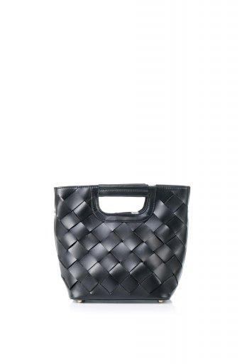 海外ファッションや大人カジュアルのためのインポートバッグ、かばんmelie bianco(メリービアンコ)のEllen (Black) 2Way・編み込みハンドバッグ