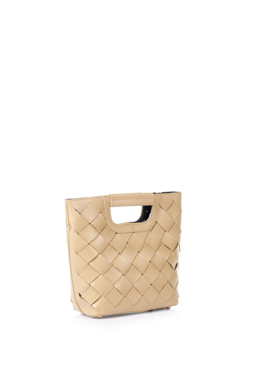 meliebiancoのEllen(Nude)2Way・編み込みハンドバッグ/海外ファッション好きにオススメのインポートバッグとかばん、MelieBianco(メリービアンコ)のバッグやハンドバッグ。可愛い大きさの編み込みハンドバッグ。しっとりとしたプレミアム・ビーガンレザーをメッシュ状に編み込んだ2Wayタイプ。/main-3