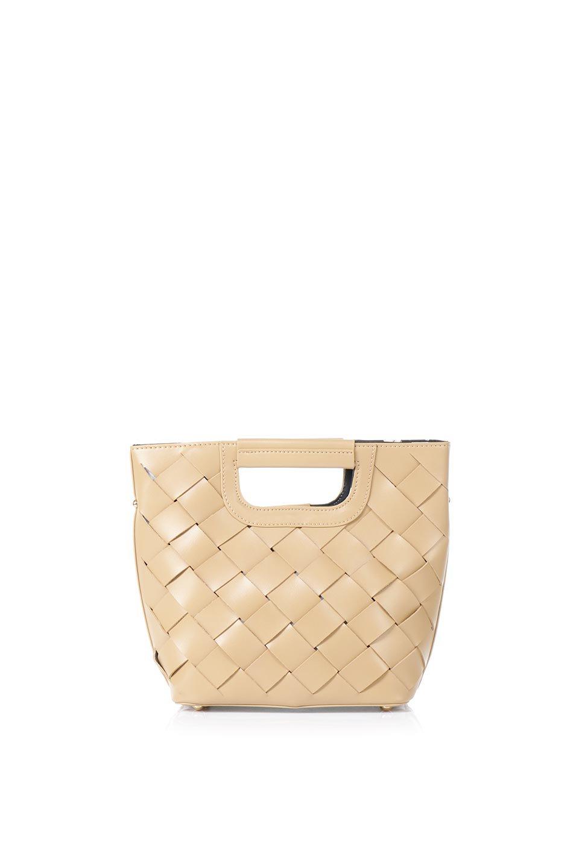 meliebiancoのEllen(Nude)2Way・編み込みハンドバッグ/海外ファッション好きにオススメのインポートバッグとかばん、MelieBianco(メリービアンコ)のバッグやハンドバッグ。可愛い大きさの編み込みハンドバッグ。しっとりとしたプレミアム・ビーガンレザーをメッシュ状に編み込んだ2Wayタイプ。/main-4