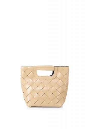 海外ファッションや大人カジュアルのためのインポートバッグ、かばんmelie bianco(メリービアンコ)のEllen (Nude) 2Way・編み込みハンドバッグ