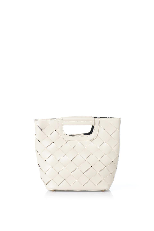 meliebiancoのEllen(Bone)2Way・編み込みハンドバッグ/海外ファッション好きにオススメのインポートバッグとかばん、MelieBianco(メリービアンコ)のバッグやハンドバッグ。可愛い大きさの編み込みハンドバッグ。しっとりとしたプレミアム・ビーガンレザーをメッシュ状に編み込んだ2Wayタイプ。