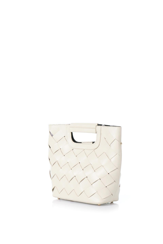 meliebiancoのEllen(Bone)2Way・編み込みハンドバッグ/海外ファッション好きにオススメのインポートバッグとかばん、MelieBianco(メリービアンコ)のバッグやハンドバッグ。可愛い大きさの編み込みハンドバッグ。しっとりとしたプレミアム・ビーガンレザーをメッシュ状に編み込んだ2Wayタイプ。/main-1