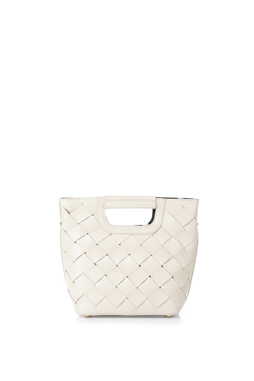 meliebiancoのEllen(Bone)2Way・編み込みハンドバッグ/海外ファッション好きにオススメのインポートバッグとかばん、MelieBianco(メリービアンコ)のバッグやハンドバッグ。可愛い大きさの編み込みハンドバッグ。しっとりとしたプレミアム・ビーガンレザーをメッシュ状に編み込んだ2Wayタイプ。/main-4