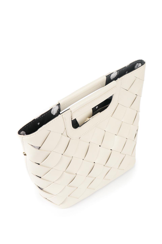 meliebiancoのEllen(Bone)2Way・編み込みハンドバッグ/海外ファッション好きにオススメのインポートバッグとかばん、MelieBianco(メリービアンコ)のバッグやハンドバッグ。可愛い大きさの編み込みハンドバッグ。しっとりとしたプレミアム・ビーガンレザーをメッシュ状に編み込んだ2Wayタイプ。/main-7