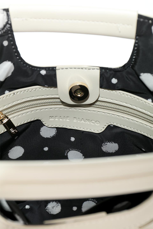 meliebiancoのEllen(Bone)2Way・編み込みハンドバッグ/海外ファッション好きにオススメのインポートバッグとかばん、MelieBianco(メリービアンコ)のバッグやハンドバッグ。可愛い大きさの編み込みハンドバッグ。しっとりとしたプレミアム・ビーガンレザーをメッシュ状に編み込んだ2Wayタイプ。/main-9