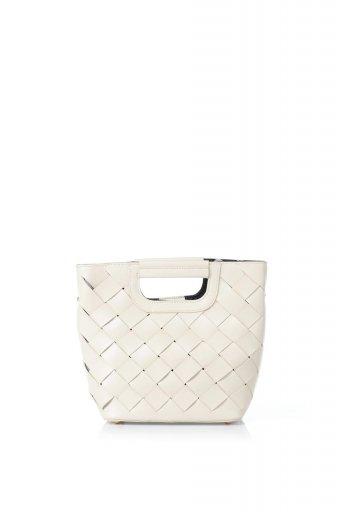海外ファッションや大人カジュアルのためのインポートバッグ、かばんmelie bianco(メリービアンコ)のEllen (Bone) 2Way・編み込みハンドバッグ