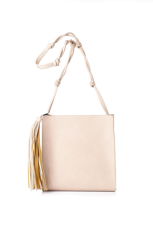 meliebiancoのJaniceLarge(Blush)タッセル付き・ノットストラップバッグ/海外ファッション好きにオススメのインポートバッグとかばん、MelieBianco(メリービアンコ)のバッグやショルダーバッグ。スリムでスッキリとしたデザインのショルダーバッグ。ノット(結び目)付きのストラップが可愛いアクセントになっています。