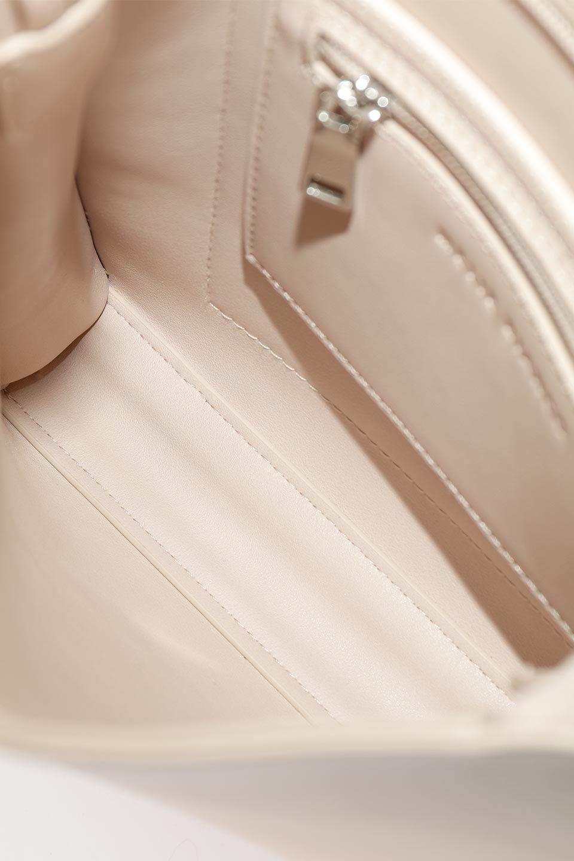 meliebiancoのJaniceLarge(Blush)タッセル付き・ノットストラップバッグ/海外ファッション好きにオススメのインポートバッグとかばん、MelieBianco(メリービアンコ)のバッグやショルダーバッグ。スリムでスッキリとしたデザインのショルダーバッグ。ノット(結び目)付きのストラップが可愛いアクセントになっています。/main-11