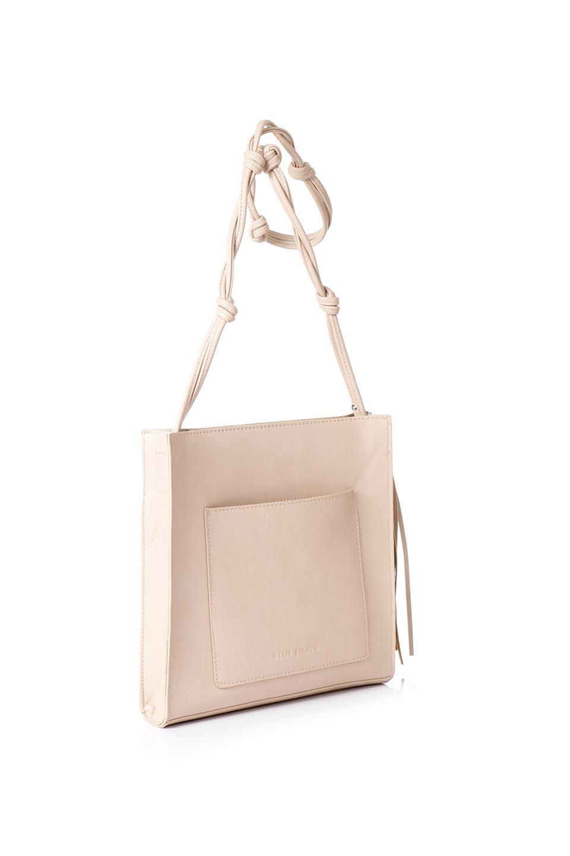 meliebiancoのJaniceLarge(Blush)タッセル付き・ノットストラップバッグ/海外ファッション好きにオススメのインポートバッグとかばん、MelieBianco(メリービアンコ)のバッグやショルダーバッグ。スリムでスッキリとしたデザインのショルダーバッグ。ノット(結び目)付きのストラップが可愛いアクセントになっています。/main-2