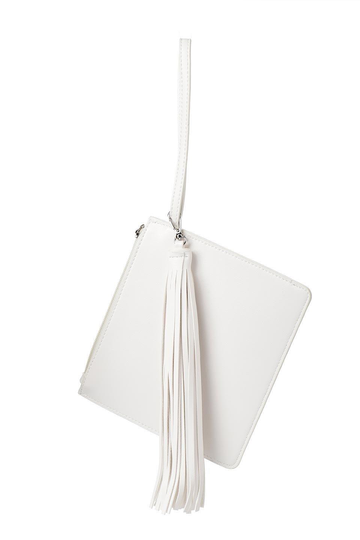 meliebiancoのJaniceLargeClear(White)タッセル付き・ノットストラップクリアバッグ/海外ファッション好きにオススメのインポートバッグとかばん、MelieBianco(メリービアンコ)のバッグやショルダーバッグ。シンプルデザインのジャニスのクリアージョン。昨年から人気継続中のクリアバッグは今期も注目のアイテムです。/main-12