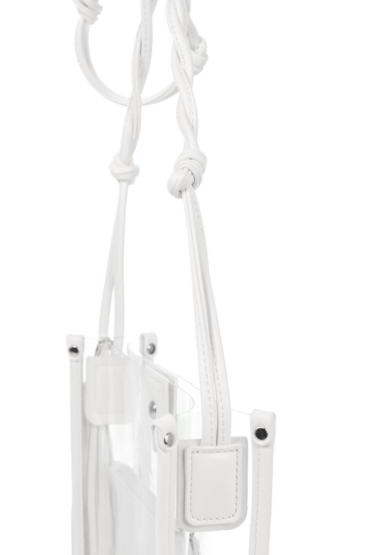 meliebiancoのJaniceLargeClear(White)タッセル付き・ノットストラップクリアバッグ/海外ファッション好きにオススメのインポートバッグとかばん、MelieBianco(メリービアンコ)のバッグやショルダーバッグ。シンプルデザインのジャニスのクリアージョン。昨年から人気継続中のクリアバッグは今期も注目のアイテムです。/main-6