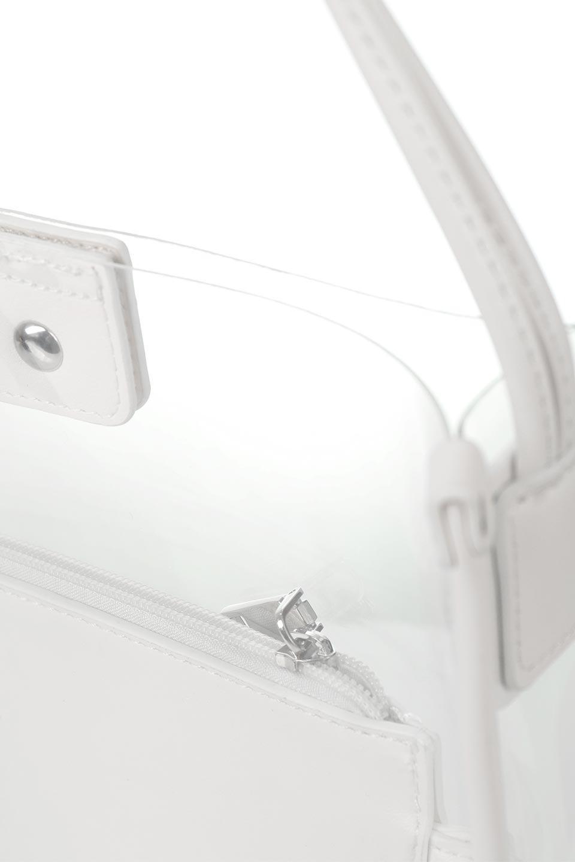 meliebiancoのJaniceLargeClear(White)タッセル付き・ノットストラップクリアバッグ/海外ファッション好きにオススメのインポートバッグとかばん、MelieBianco(メリービアンコ)のバッグやショルダーバッグ。シンプルデザインのジャニスのクリアージョン。昨年から人気継続中のクリアバッグは今期も注目のアイテムです。/main-8