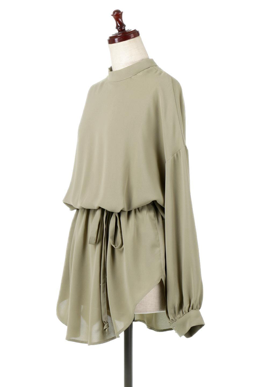 WaistRibbonHighNeckLongBlouseハイネック・ロングブラウス大人カジュアルに最適な海外ファッションのothers(その他インポートアイテム)のトップスやシャツ・ブラウス。春らしいカラーリングのハイネック・ロングブラウス。ジョーゼットの生地もまた春っぽいサラリとした肌触りです。/main-16
