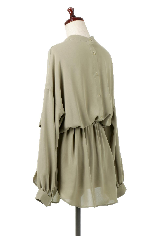 WaistRibbonHighNeckLongBlouseハイネック・ロングブラウス大人カジュアルに最適な海外ファッションのothers(その他インポートアイテム)のトップスやシャツ・ブラウス。春らしいカラーリングのハイネック・ロングブラウス。ジョーゼットの生地もまた春っぽいサラリとした肌触りです。/main-18