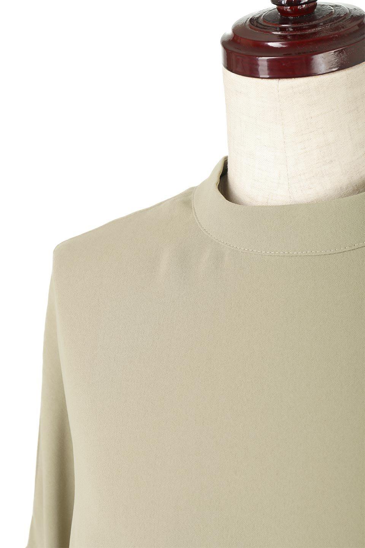 WaistRibbonHighNeckLongBlouseハイネック・ロングブラウス大人カジュアルに最適な海外ファッションのothers(その他インポートアイテム)のトップスやシャツ・ブラウス。春らしいカラーリングのハイネック・ロングブラウス。ジョーゼットの生地もまた春っぽいサラリとした肌触りです。/main-25