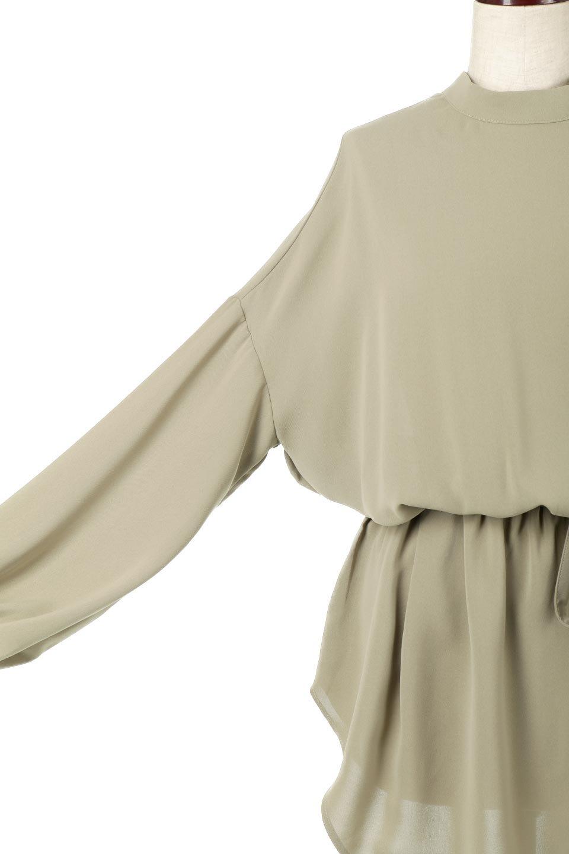 WaistRibbonHighNeckLongBlouseハイネック・ロングブラウス大人カジュアルに最適な海外ファッションのothers(その他インポートアイテム)のトップスやシャツ・ブラウス。春らしいカラーリングのハイネック・ロングブラウス。ジョーゼットの生地もまた春っぽいサラリとした肌触りです。/main-31