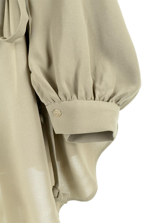 WaistRibbonHighNeckLongBlouseハイネック・ロングブラウス大人カジュアルに最適な海外ファッションのothers(その他インポートアイテム)のトップスやシャツ・ブラウス。春らしいカラーリングのハイネック・ロングブラウス。ジョーゼットの生地もまた春っぽいサラリとした肌触りです。/main-32