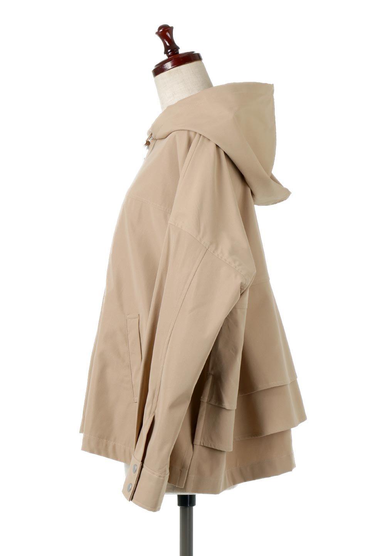 FrilledBackShortMountainParkaバックフリル・ショートマウンテンパーカ大人カジュアルに最適な海外ファッションのothers(その他インポートアイテム)のアウターやジャケット。春にぴったりのショート丈マウンテンパーカ。腰の3段フリルが可愛いカジュアルな春アイテム。/main-12