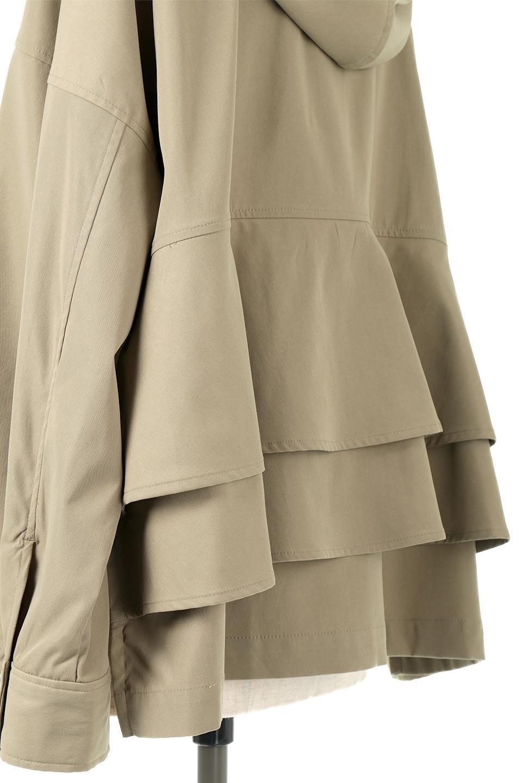 FrilledBackShortMountainParkaバックフリル・ショートマウンテンパーカ大人カジュアルに最適な海外ファッションのothers(その他インポートアイテム)のアウターやジャケット。春にぴったりのショート丈マウンテンパーカ。腰の3段フリルが可愛いカジュアルな春アイテム。/main-19