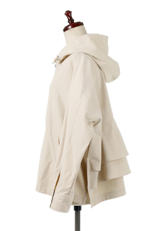 FrilledBackShortMountainParkaバックフリル・ショートマウンテンパーカ大人カジュアルに最適な海外ファッションのothers(その他インポートアイテム)のアウターやジャケット。春にぴったりのショート丈マウンテンパーカ。腰の3段フリルが可愛いカジュアルな春アイテム。/main-2