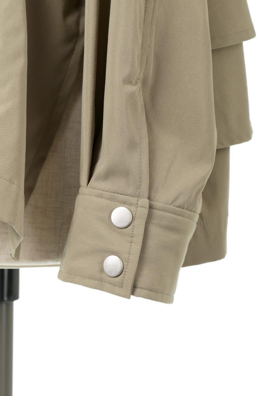 FrilledBackShortMountainParkaバックフリル・ショートマウンテンパーカ大人カジュアルに最適な海外ファッションのothers(その他インポートアイテム)のアウターやジャケット。春にぴったりのショート丈マウンテンパーカ。腰の3段フリルが可愛いカジュアルな春アイテム。/main-22