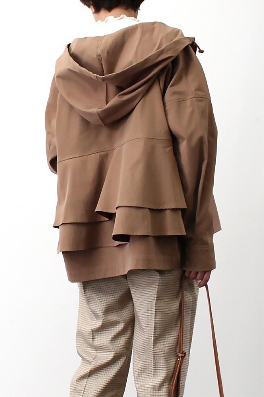FrilledBackShortMountainParkaバックフリル・ショートマウンテンパーカ大人カジュアルに最適な海外ファッションのothers(その他インポートアイテム)のアウターやジャケット。春にぴったりのショート丈マウンテンパーカ。腰の3段フリルが可愛いカジュアルな春アイテム。/main-26