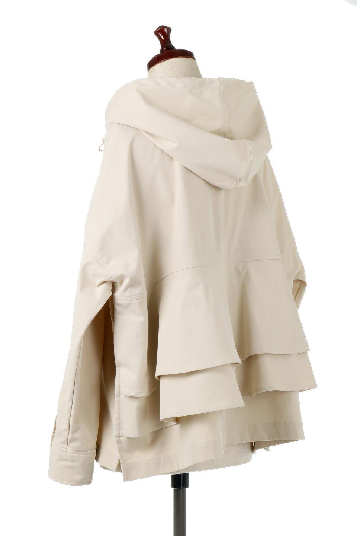 FrilledBackShortMountainParkaバックフリル・ショートマウンテンパーカ大人カジュアルに最適な海外ファッションのothers(その他インポートアイテム)のアウターやジャケット。春にぴったりのショート丈マウンテンパーカ。腰の3段フリルが可愛いカジュアルな春アイテム。/main-3