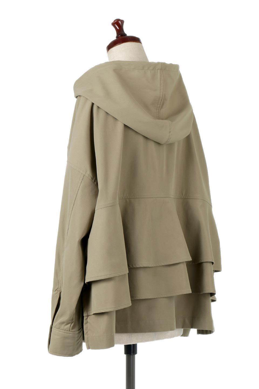 FrilledBackShortMountainParkaバックフリル・ショートマウンテンパーカ大人カジュアルに最適な海外ファッションのothers(その他インポートアイテム)のアウターやジャケット。春にぴったりのショート丈マウンテンパーカ。腰の3段フリルが可愛いカジュアルな春アイテム。/main-8