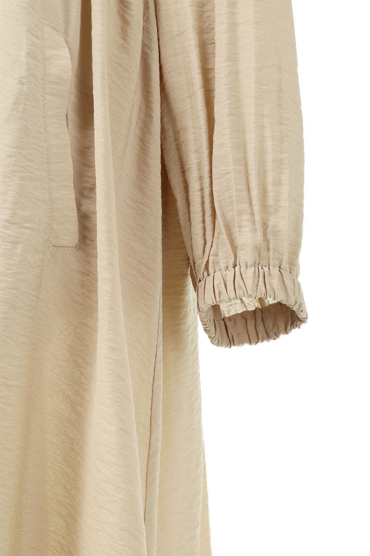 ZipOpenHoodieLongGownフルジップ・フード付きガウンコート大人カジュアルに最適な海外ファッションのothers(その他インポートアイテム)のアウターやコート。春の風が待ち遠しいロング丈のフード付きガウンコート。クラッシュサテンのブラウスのような軽やかな素材感です。/main-21