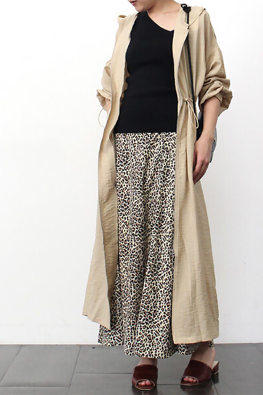 ZipOpenHoodieLongGownフルジップ・フード付きガウンコート大人カジュアルに最適な海外ファッションのothers(その他インポートアイテム)のアウターやコート。春の風が待ち遠しいロング丈のフード付きガウンコート。クラッシュサテンのブラウスのような軽やかな素材感です。/main-25