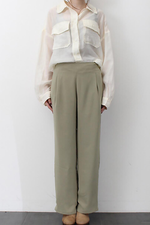 StraightWideLegPants裏地付き・ストレートワイドパンツ大人カジュアルに最適な海外ファッションのothers(その他インポートアイテム)のボトムやパンツ。サラリとしたジョーゼット生地のワイドパンツ。上品なストレートのシルエットで、応用範囲の広いパンツです。/main-26