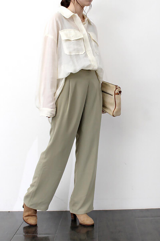 StraightWideLegPants裏地付き・ストレートワイドパンツ大人カジュアルに最適な海外ファッションのothers(その他インポートアイテム)のボトムやパンツ。サラリとしたジョーゼット生地のワイドパンツ。上品なストレートのシルエットで、応用範囲の広いパンツです。/main-27