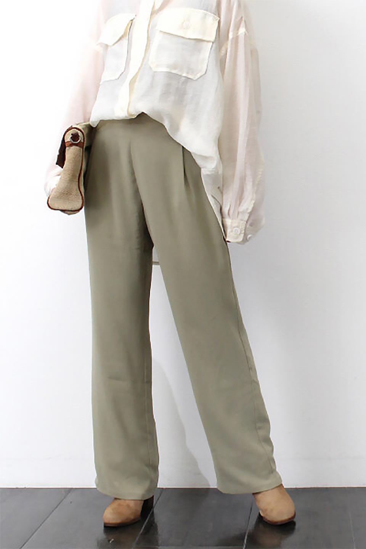 StraightWideLegPants裏地付き・ストレートワイドパンツ大人カジュアルに最適な海外ファッションのothers(その他インポートアイテム)のボトムやパンツ。サラリとしたジョーゼット生地のワイドパンツ。上品なストレートのシルエットで、応用範囲の広いパンツです。/main-28