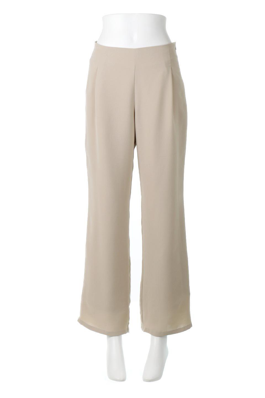 StraightWideLegPants裏地付き・ストレートワイドパンツ大人カジュアルに最適な海外ファッションのothers(その他インポートアイテム)のボトムやパンツ。サラリとしたジョーゼット生地のワイドパンツ。上品なストレートのシルエットで、応用範囲の広いパンツです。/main-5